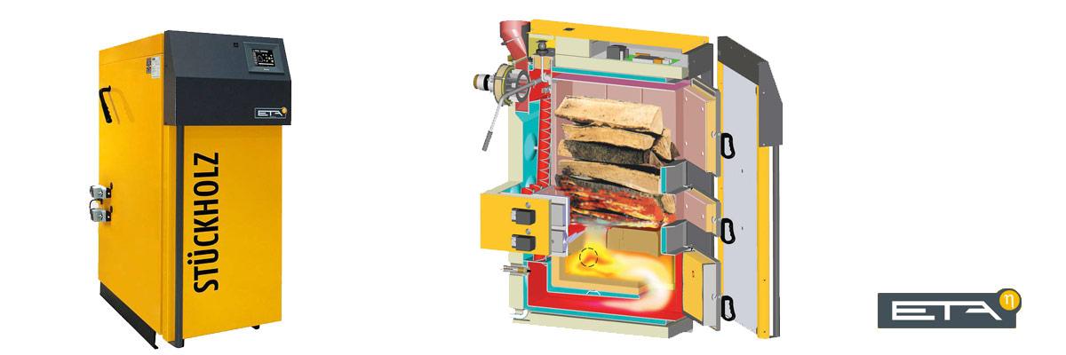 Stückholz Heizung / Holzvergaser